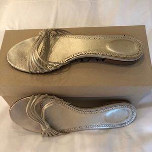 J Crew gold sandals